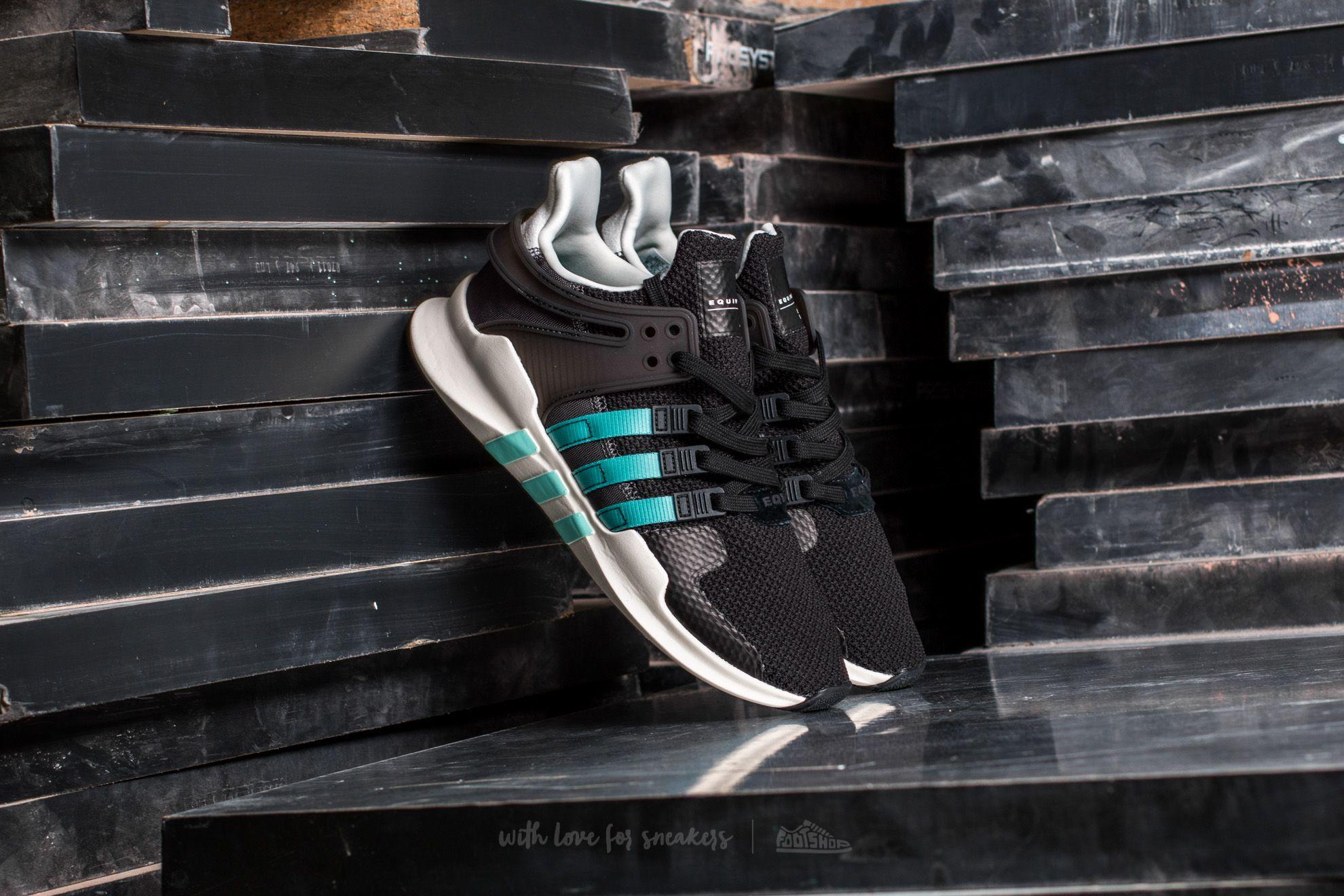 adidas Equipment Support ADV W Core Black Clear Aqua Granite   Footshop