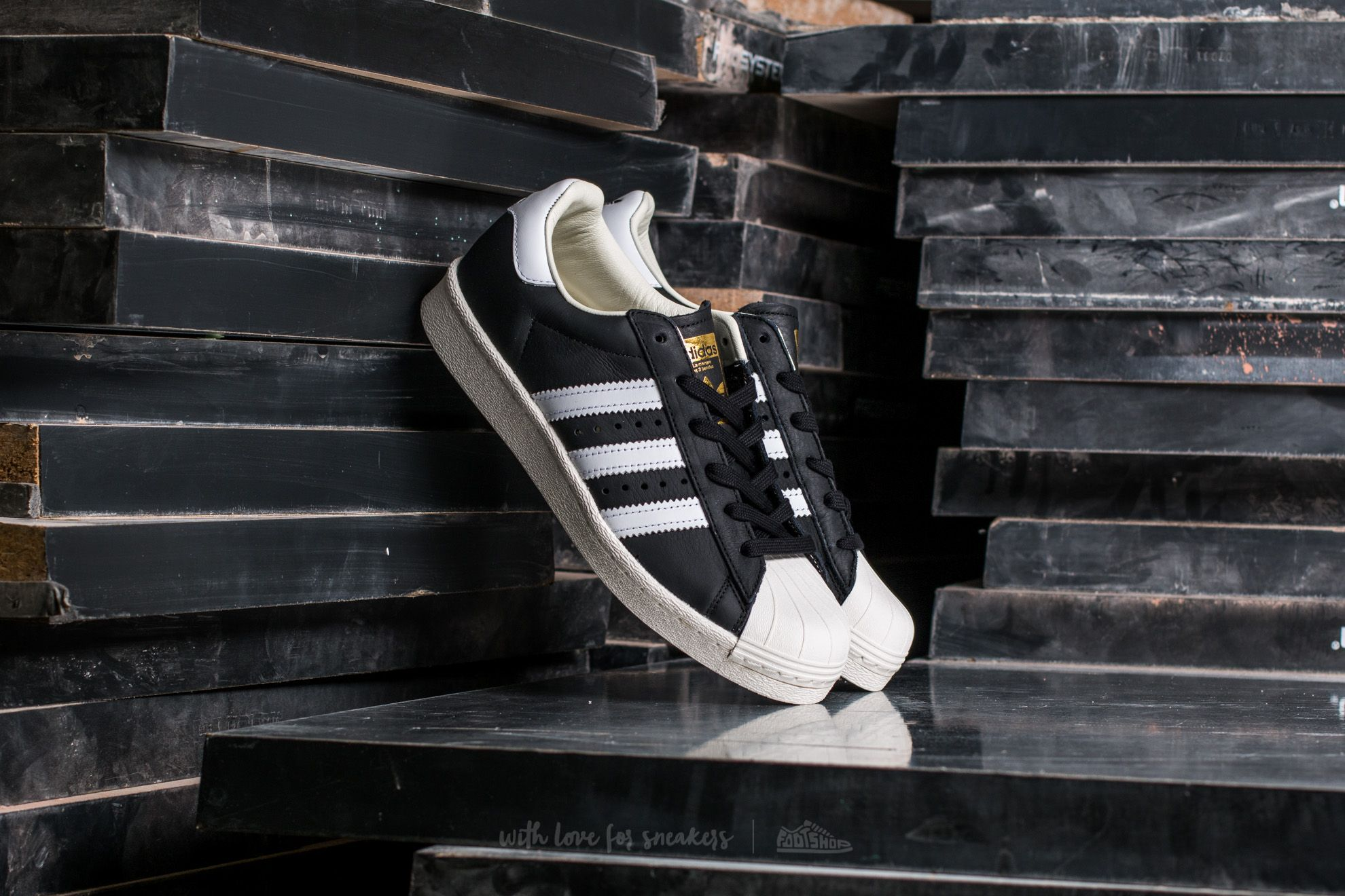 80c8d1fe5 adidas Superstar BOOST Core Black  Ftw White  Gold Metallic ...
