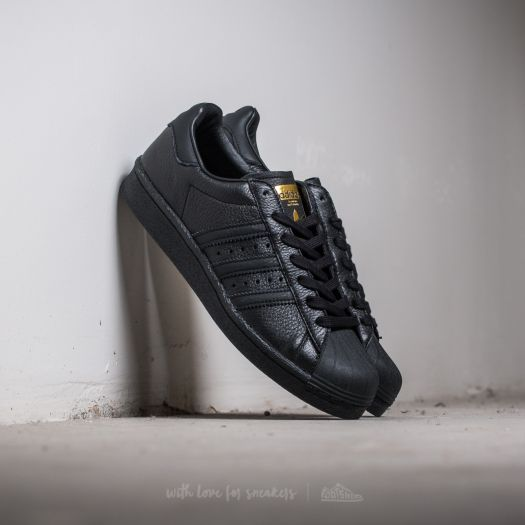 adidas superstar metallic black and gold