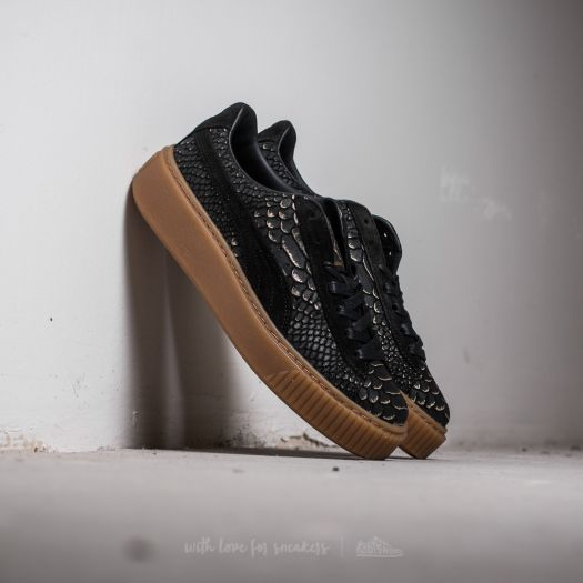 Puma Platform ExotSkin Wn's Puma Black Gold | Footshop