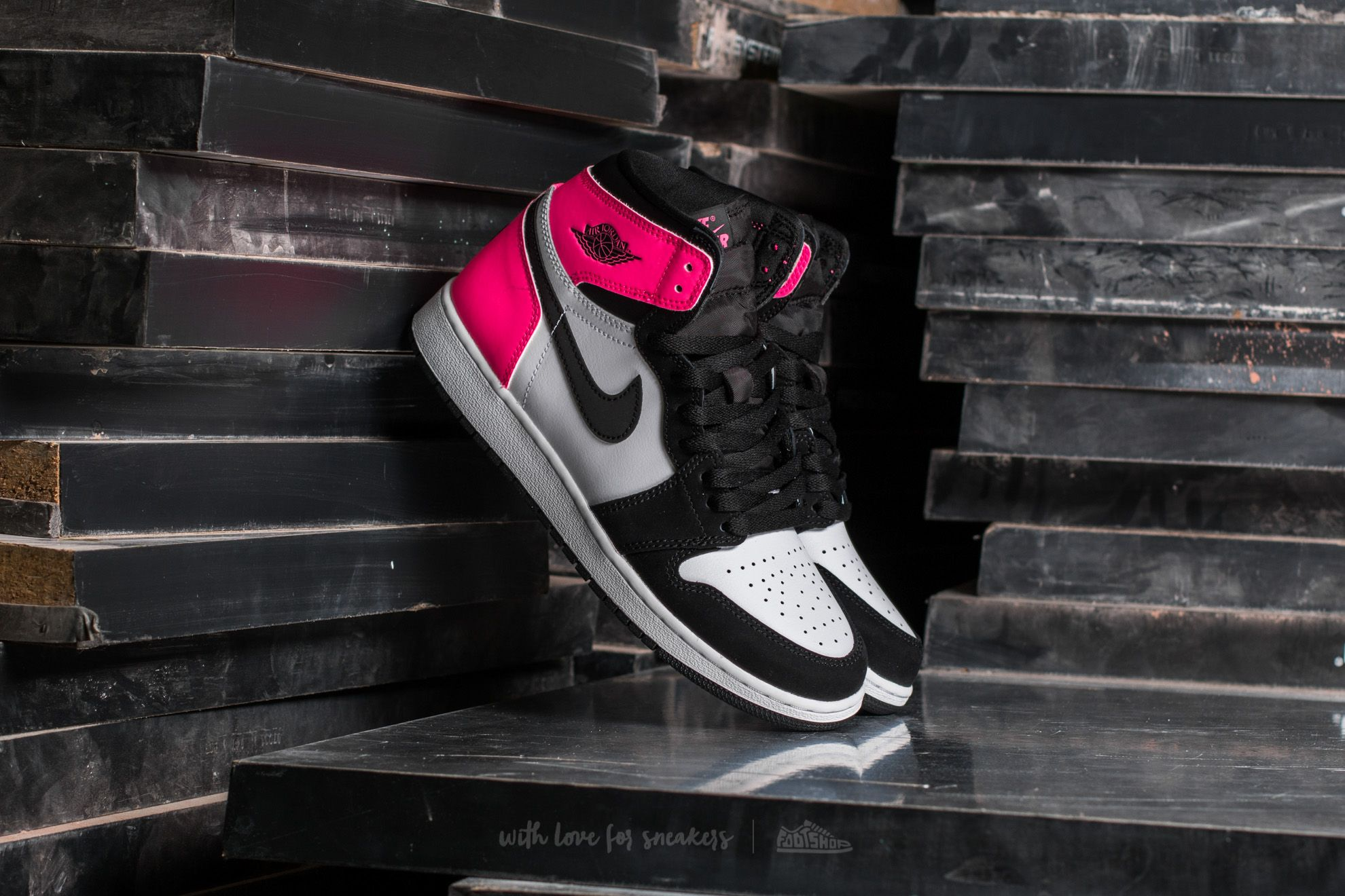 "506a6b409c90 Air Jordan 1 Retro High OG GG ""Valentines Day"" Black/ Black-Hyper ..."