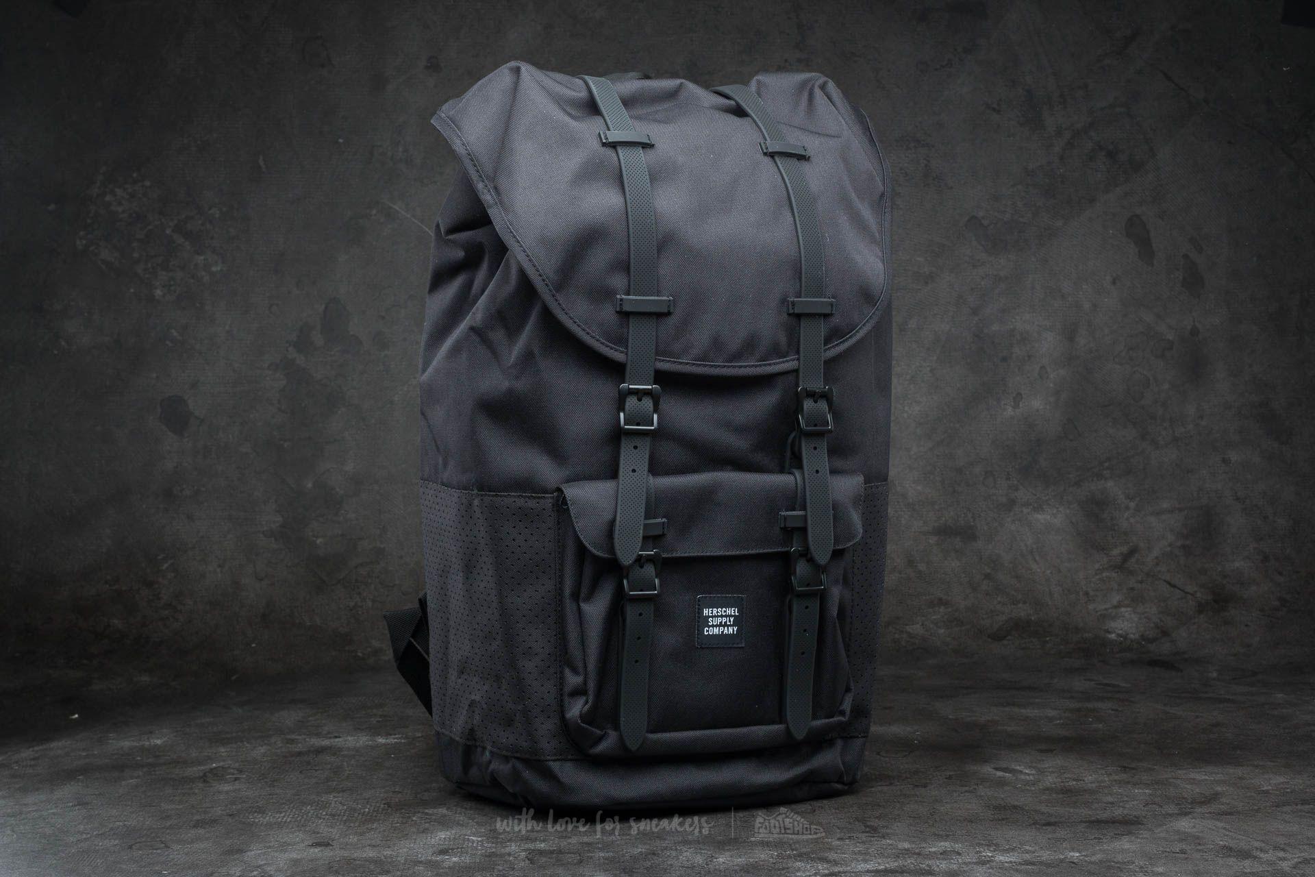 9e59fd512b1 Herschel Supply Co. Little America Backpack Black  Black Rubber ...