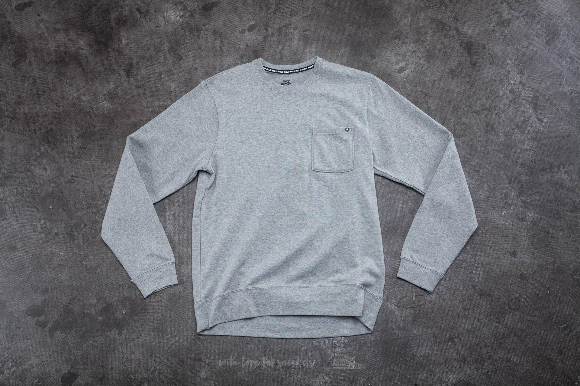 d8e2774b Nike SB Long Sleeve Top Dark Grey Heather | Footshop