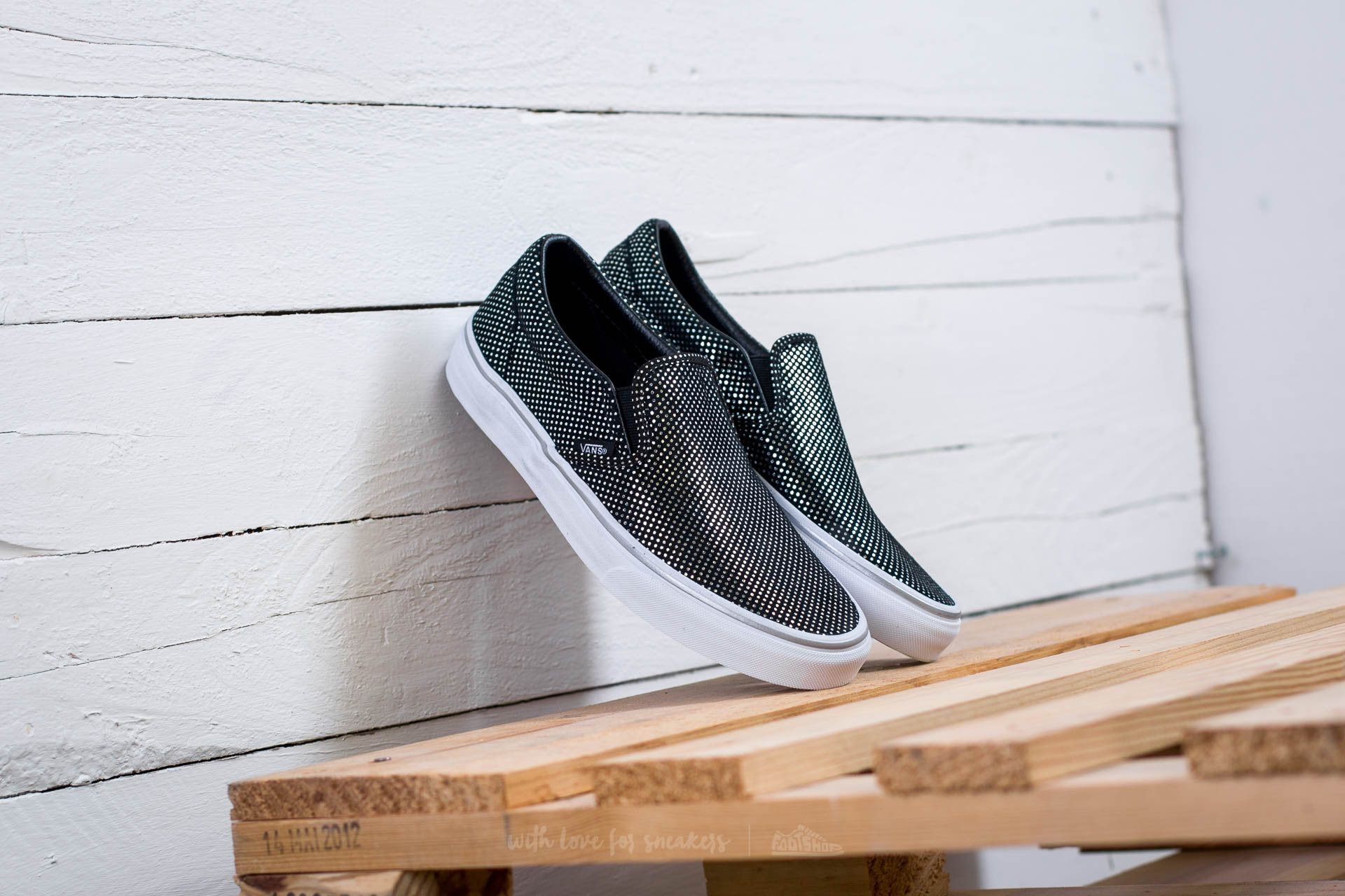 Vans Classic Slip-On (Metallic Dots) Silver  Black  47cefed08