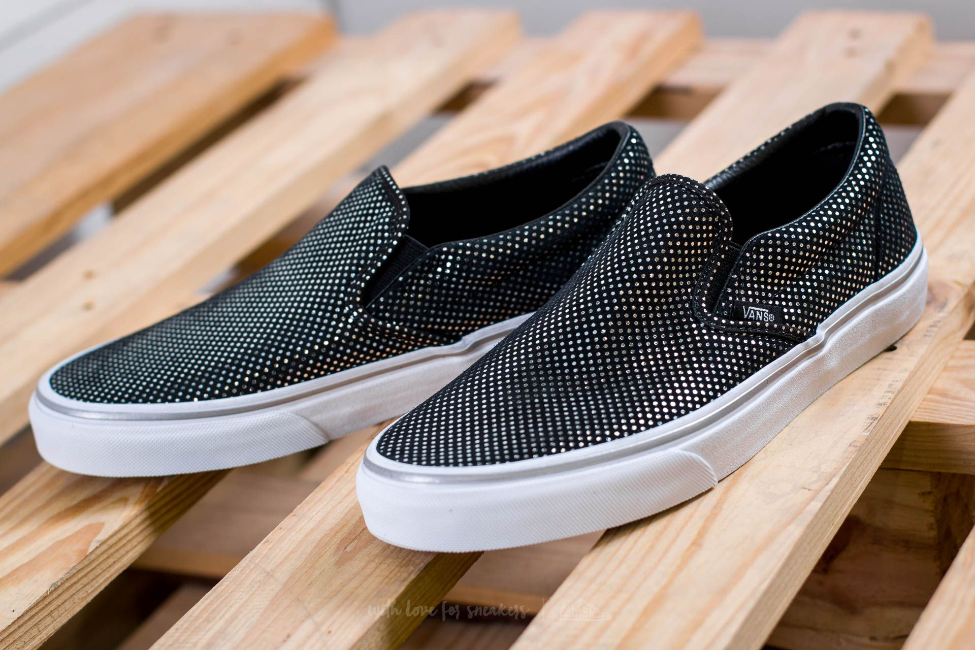 Vans Classic Slip On (Metallic Dots) Silver Black | Footshop