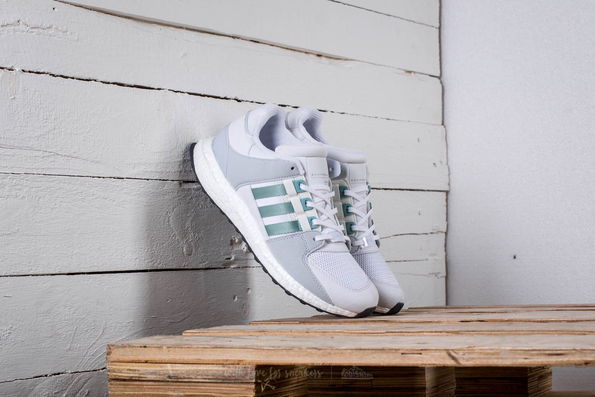 3facec1cd285 adidas Equipment Support Ultra W Ftw White  Tactile Green  Clear Grey