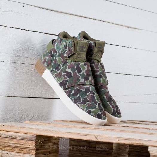 6a383a07 adidas Tubular Invader Strap Olive Cargo/ Dark Brown/ Core White ...