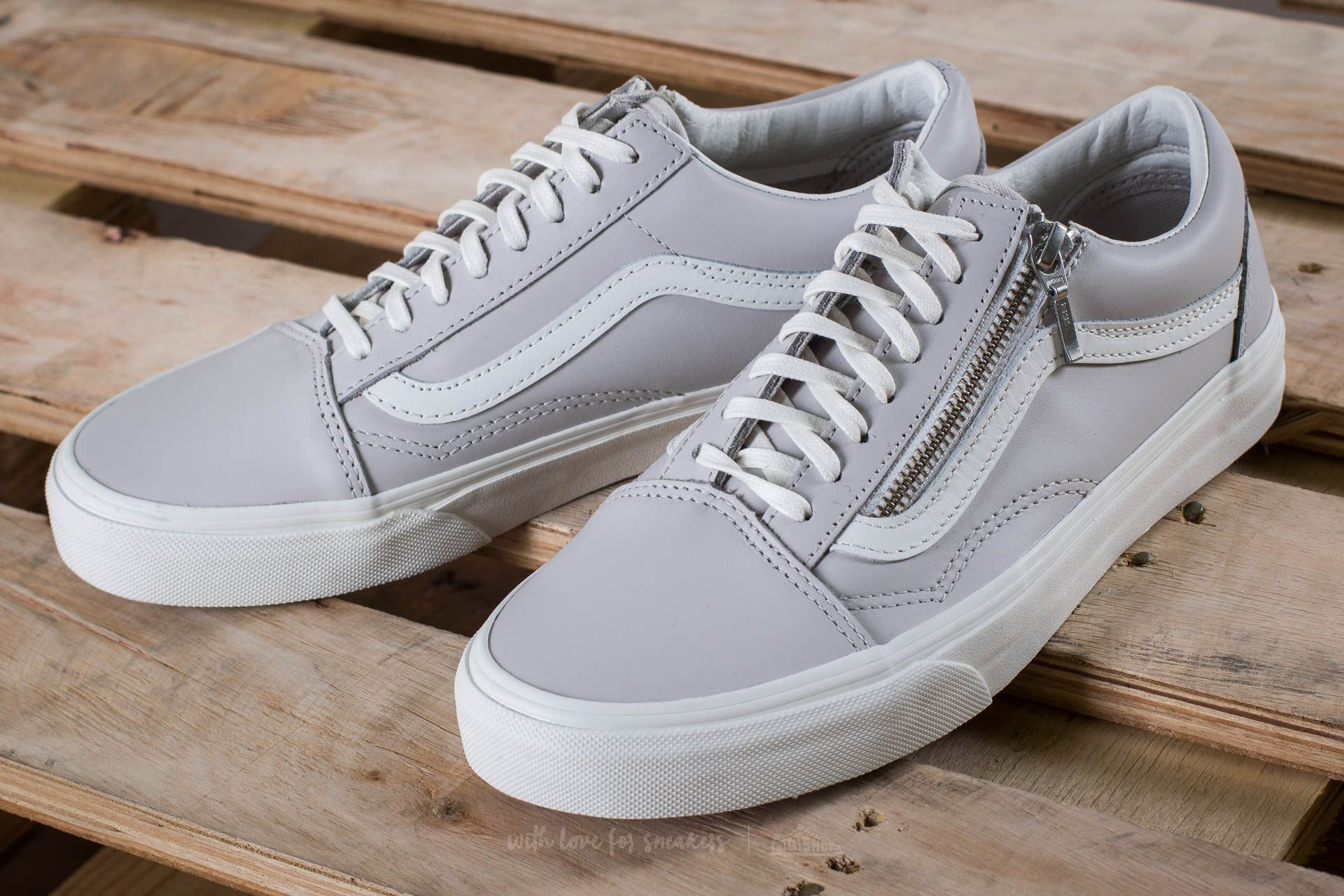 Vans Old Skool Zip (Leather) Wind Chime Blanc de Blanc | Footshop