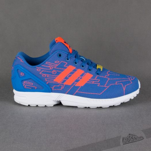 factory authentic ad8d6 a30e3 adidas ZX Flux Weave Blue/Solred