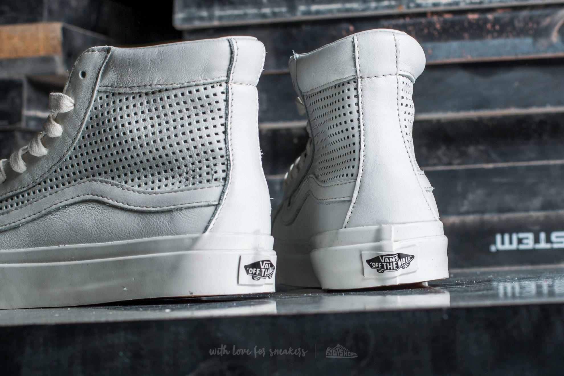 Vans Sk8 Hi Slim Cutou Square Perf Blanc De Blanc | Footshop