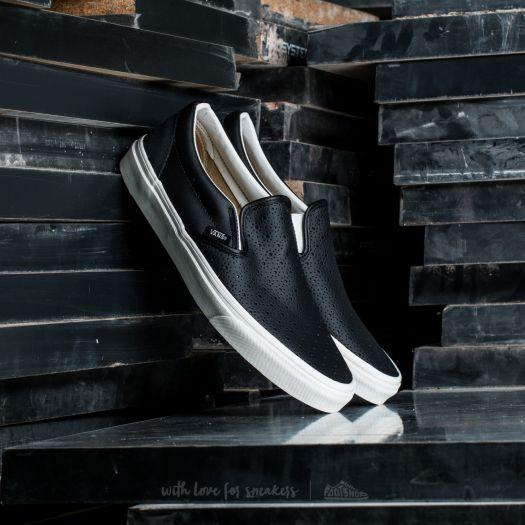 Vans Classic Slip-On (Leather Perf) Black | Footshop