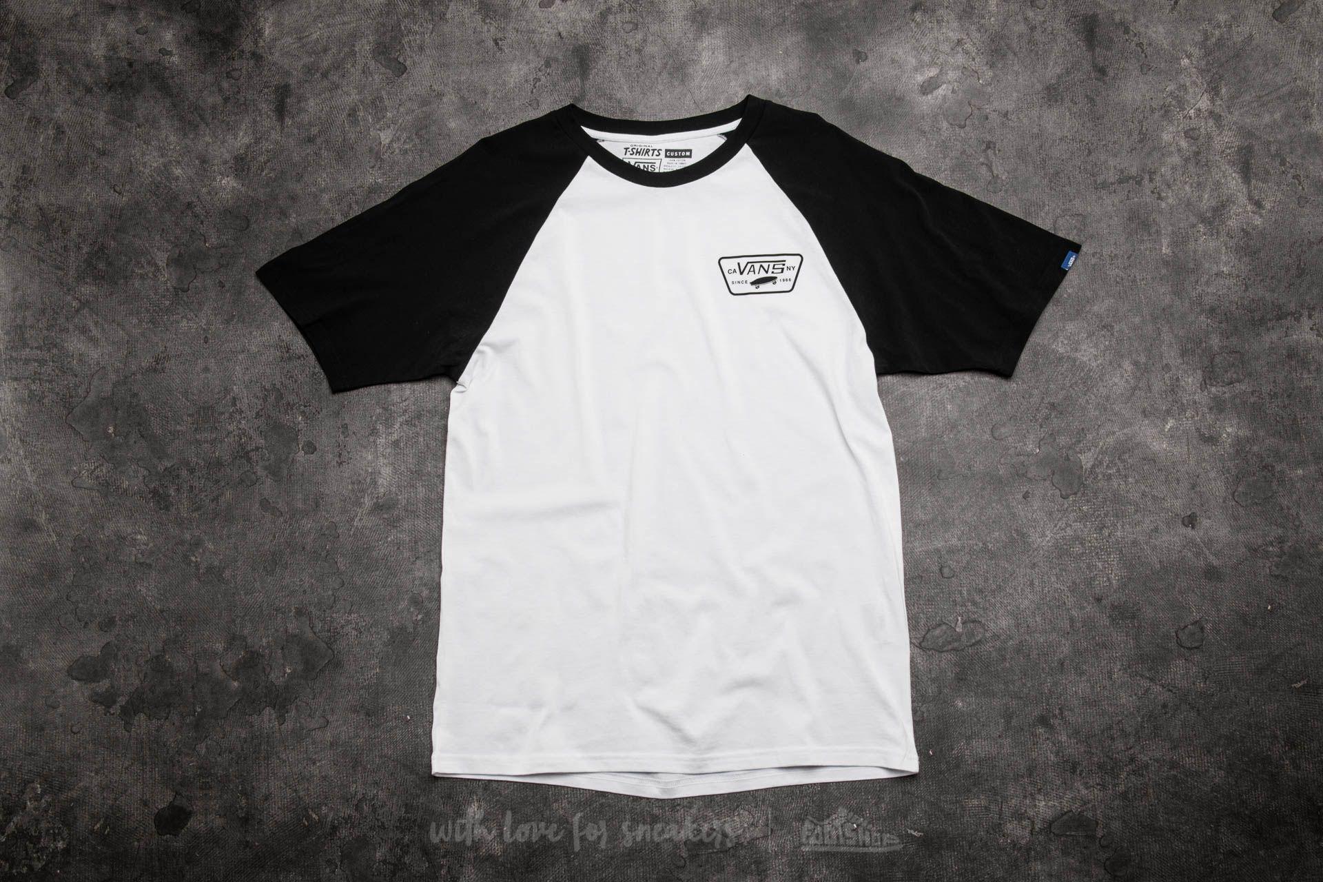 64deeaf1e9 Vans Full Patch Short Sleeve Raglan Tee White-Black