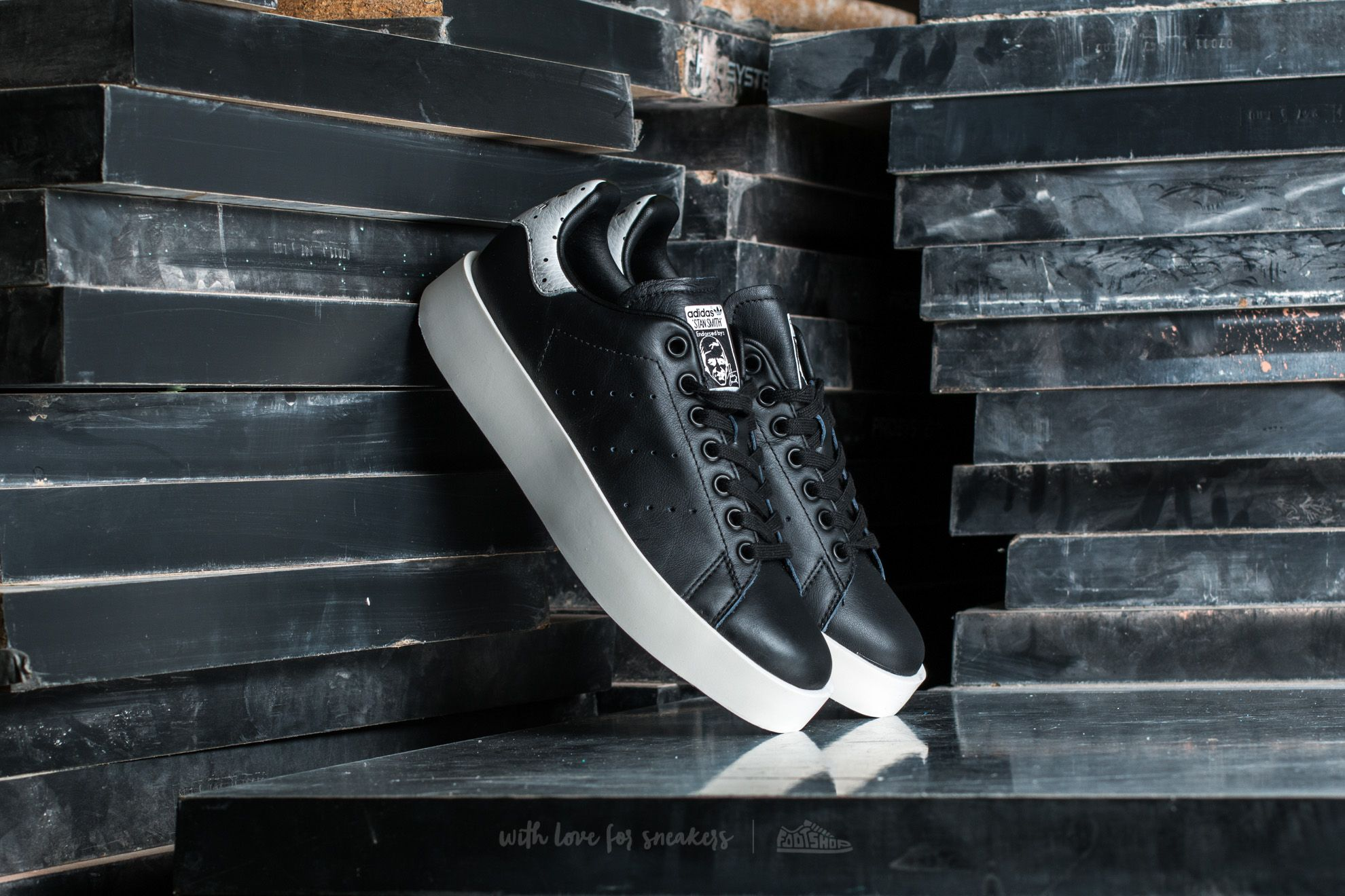 adidas originals stan smith bold w core black