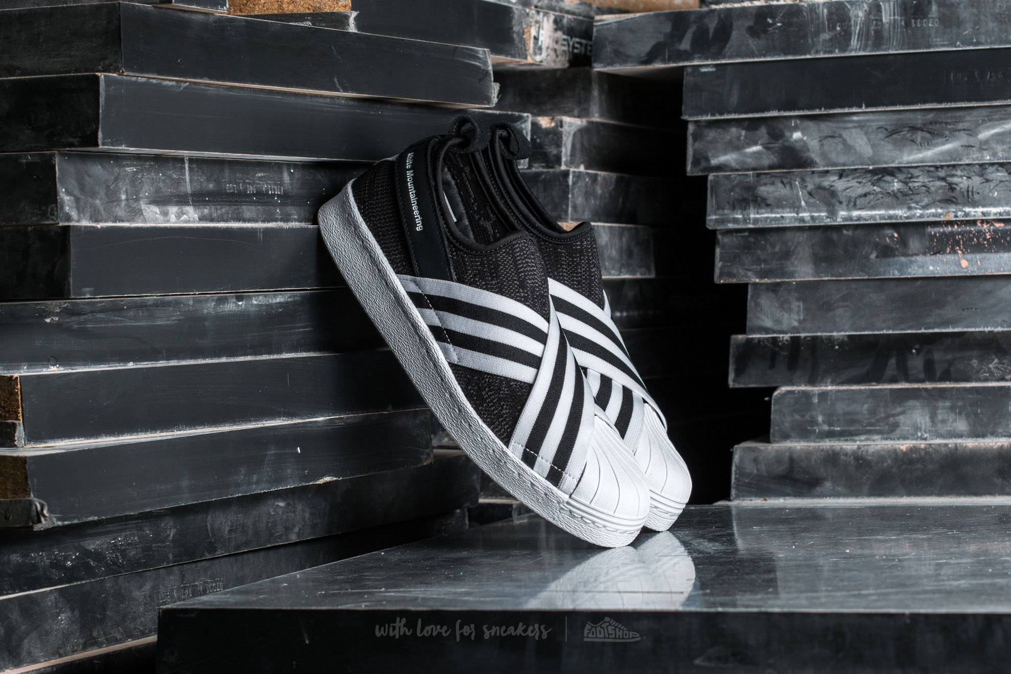 670ce6d4460a adidas Consortium x White Mountaineering Superstar Slip On Primeknit Core  Black  Footwear White  Footwear