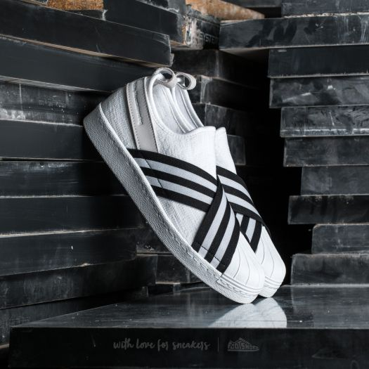 the latest 96457 622e6 adidas White Mountaineering Superstar Slip On Primeknit ...