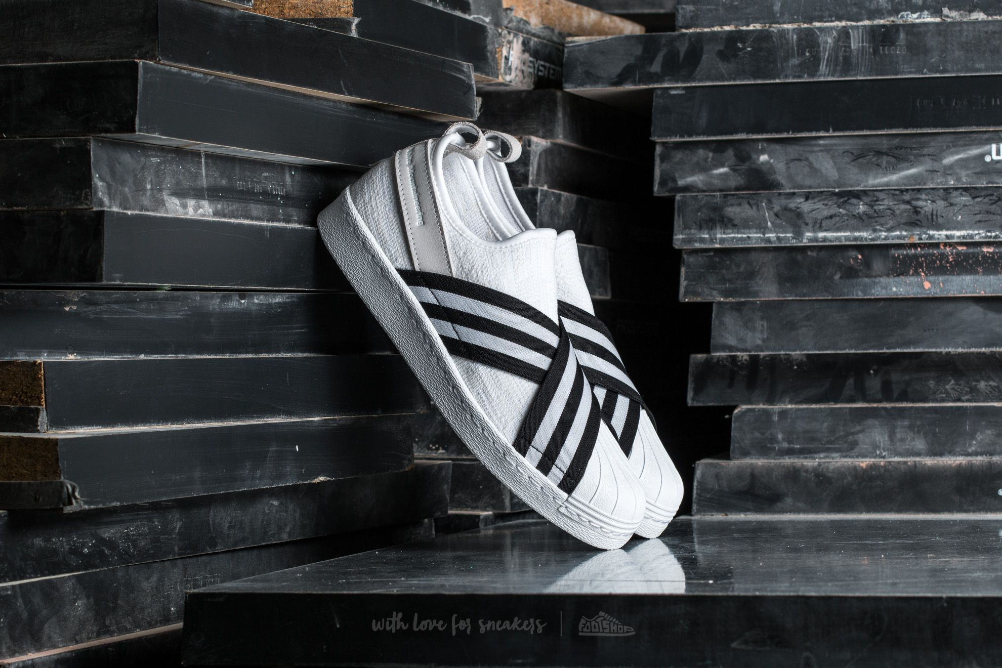 ab9339362c44 adidas Consortium x White Mountaineering Superstar Slip On Primeknit  Footwear White  Core Black  Footwear