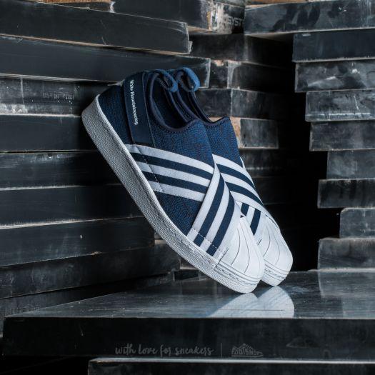 the latest 96457 622e6 adidas White Mountaineering Superstar Slip On Primeknit ...