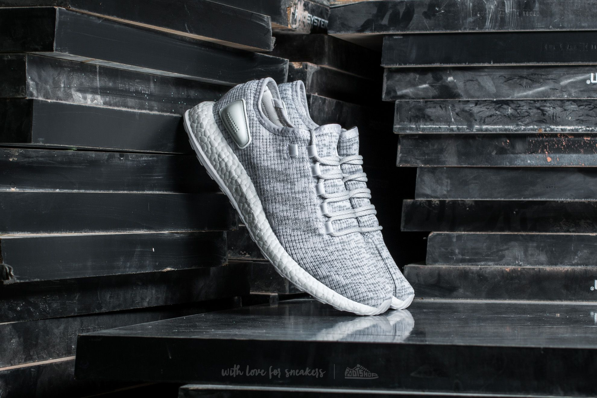 Adidas Gray Pure Boost Xpose Neutral Running Shoes Clear Greyfootwear Whitemid Grey