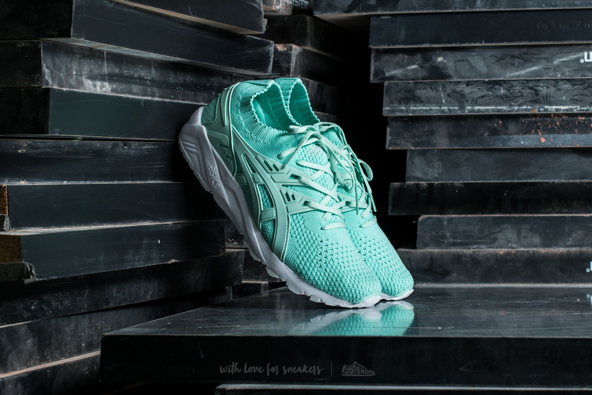 d5ac468443f53 Asics Gel-Kayano Trainer Knit Bay/ Bay | Footshop