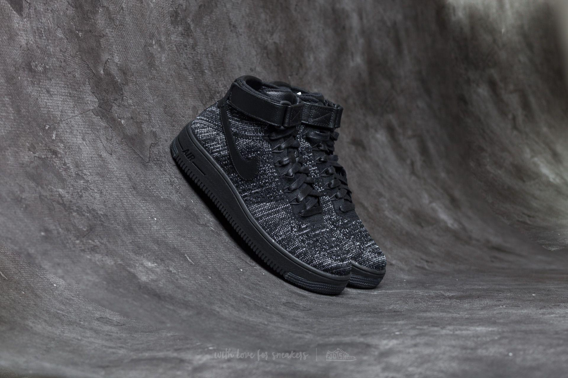 6e8407715b2f Nike W Air Force 1 Flyknit Black  Black-White