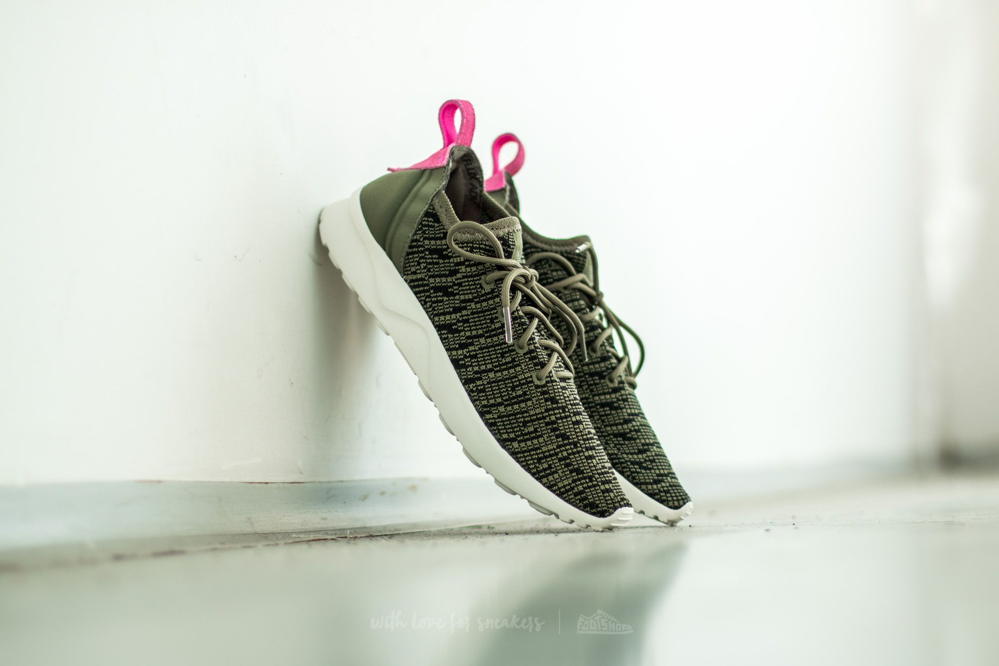 9a3949686 adidas ZX Flux ADV Virtue Sock W Olive Cargo  Core Black  Shopin ...