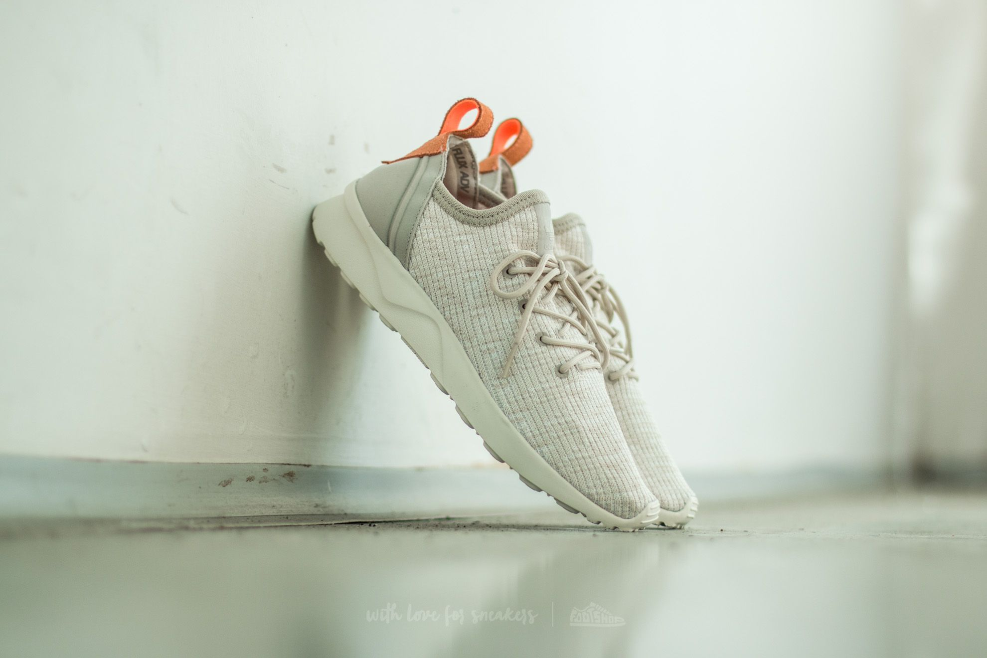 137c2444759a5 adidas ZX Flux ADV Virtue Sock W Clear Brown  Off White  Sun Glow ...