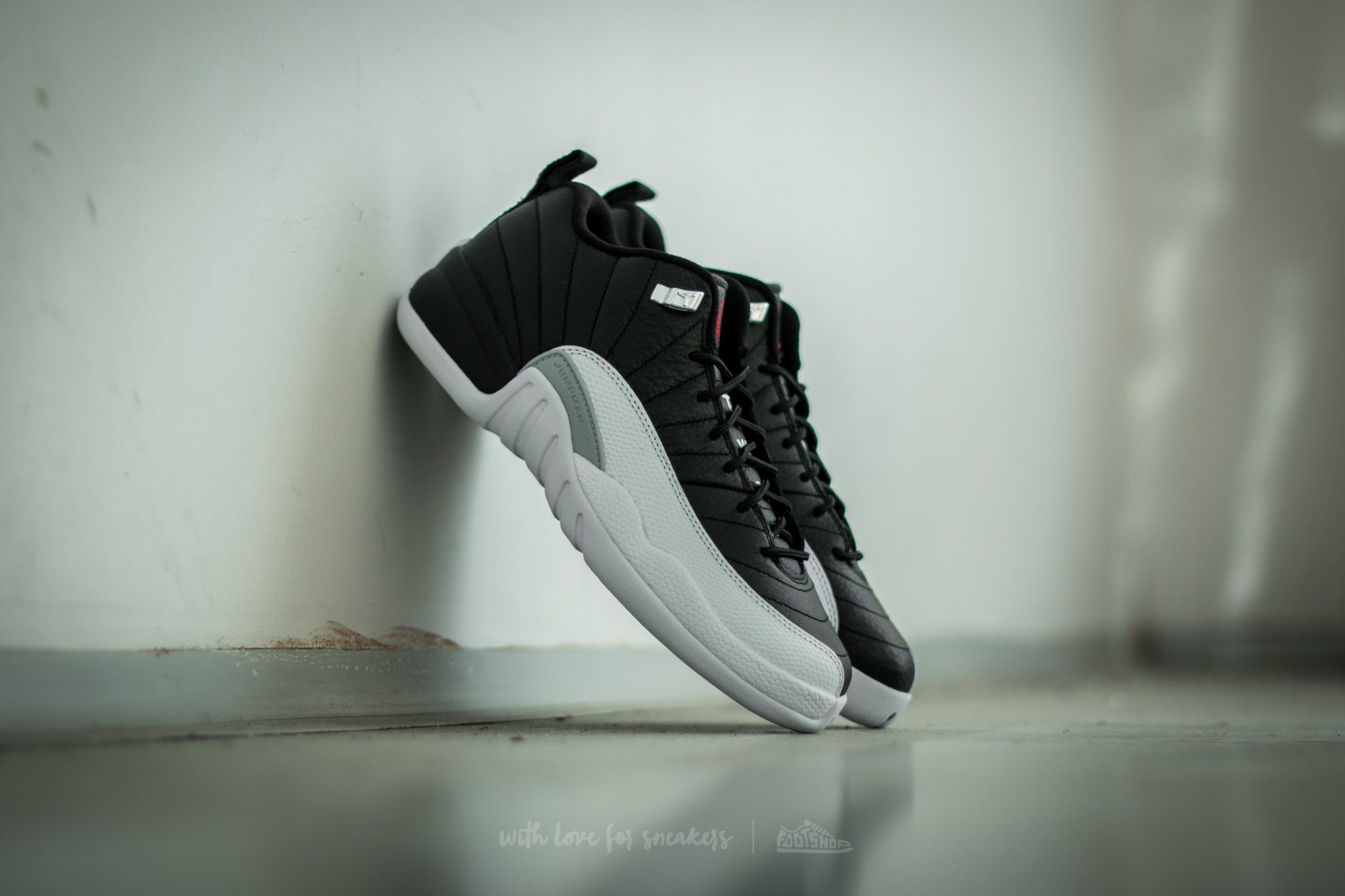 8e0e0910be09 Air Jordan 12 Retro Low BG Black  Varsity Red-White