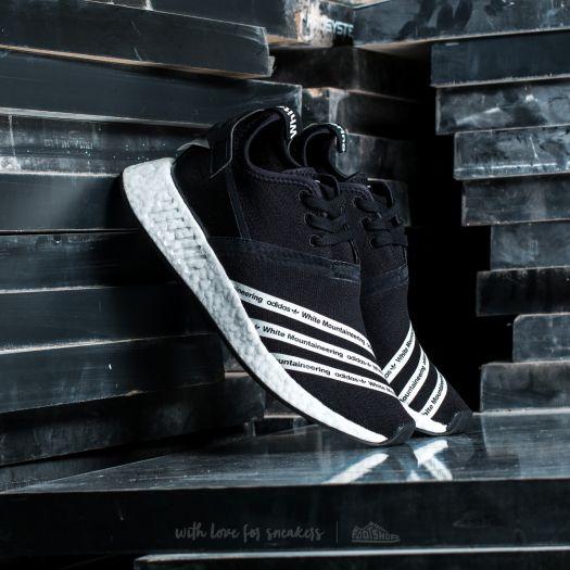 new styles 8f2d6 6373d adidas x White Mountaineering NMD R2 Primeknit Core Black  White  White    Footshop