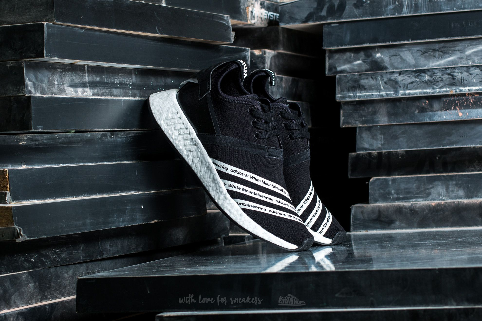42b2c123436ab adidas x White Mountaineering NMD R2 Primeknit Core Black  White ...