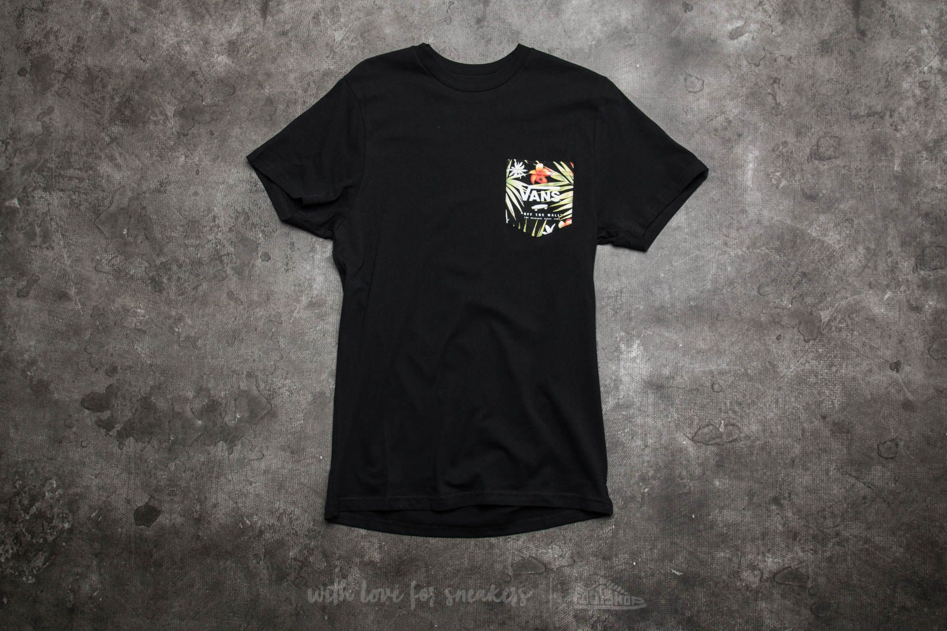 4cb74d5090b6a0 Vans Mn Print Box Pocket Tee Black-Black Decay Palm