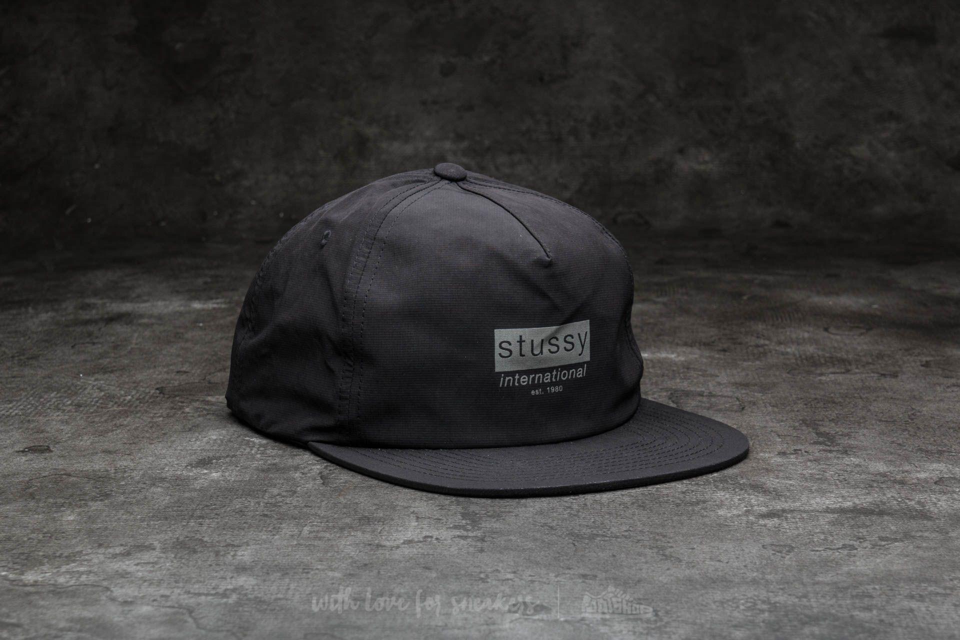 c086fcc568e Stüssy Reflective Tape Cap Black