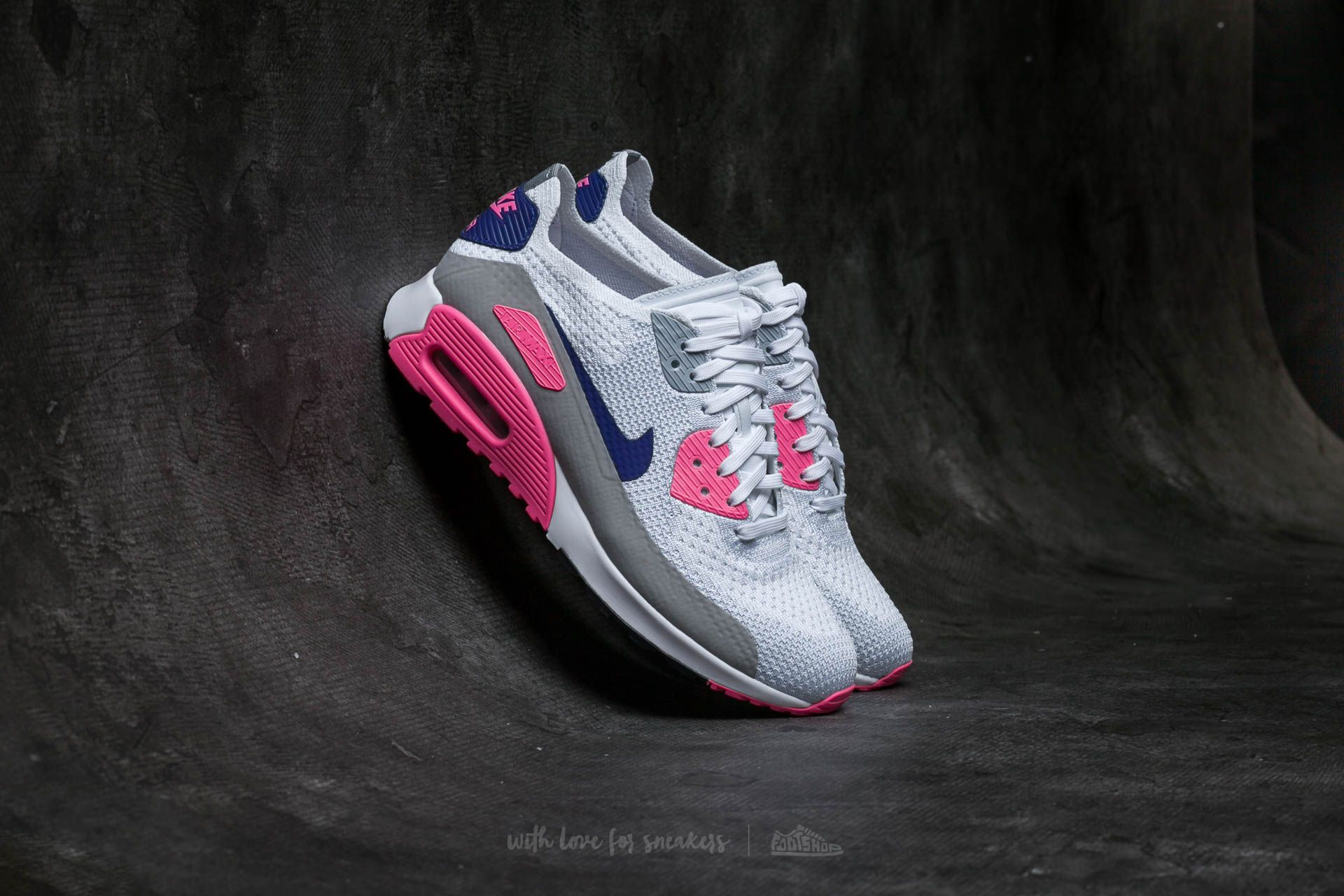 Nike Air Max 90 Ultra 2.0 Flyknit white concordlaser pink Donna |