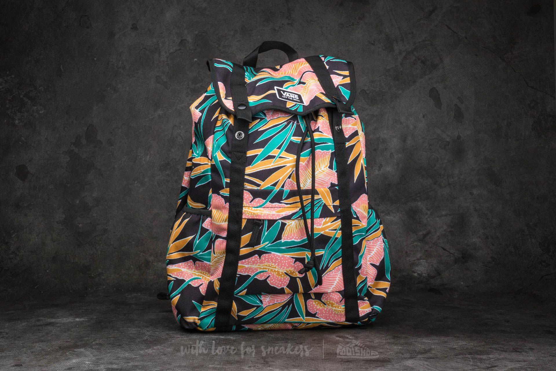 0952ede6088ee Vans Caravaner Backpack Black Tropical
