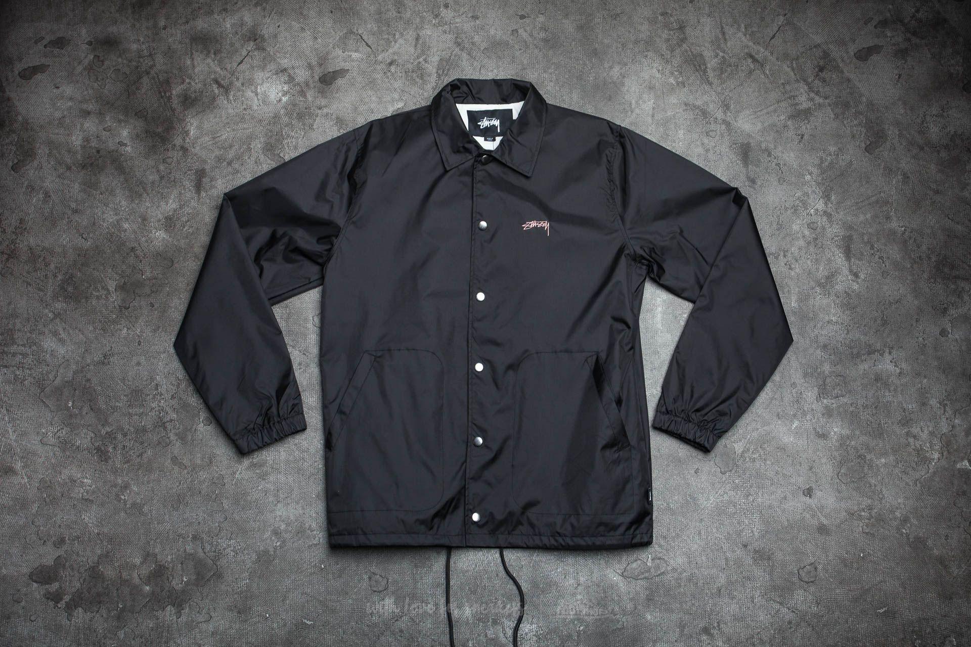 Stüssy Spring Coach Jacket Black Footshop