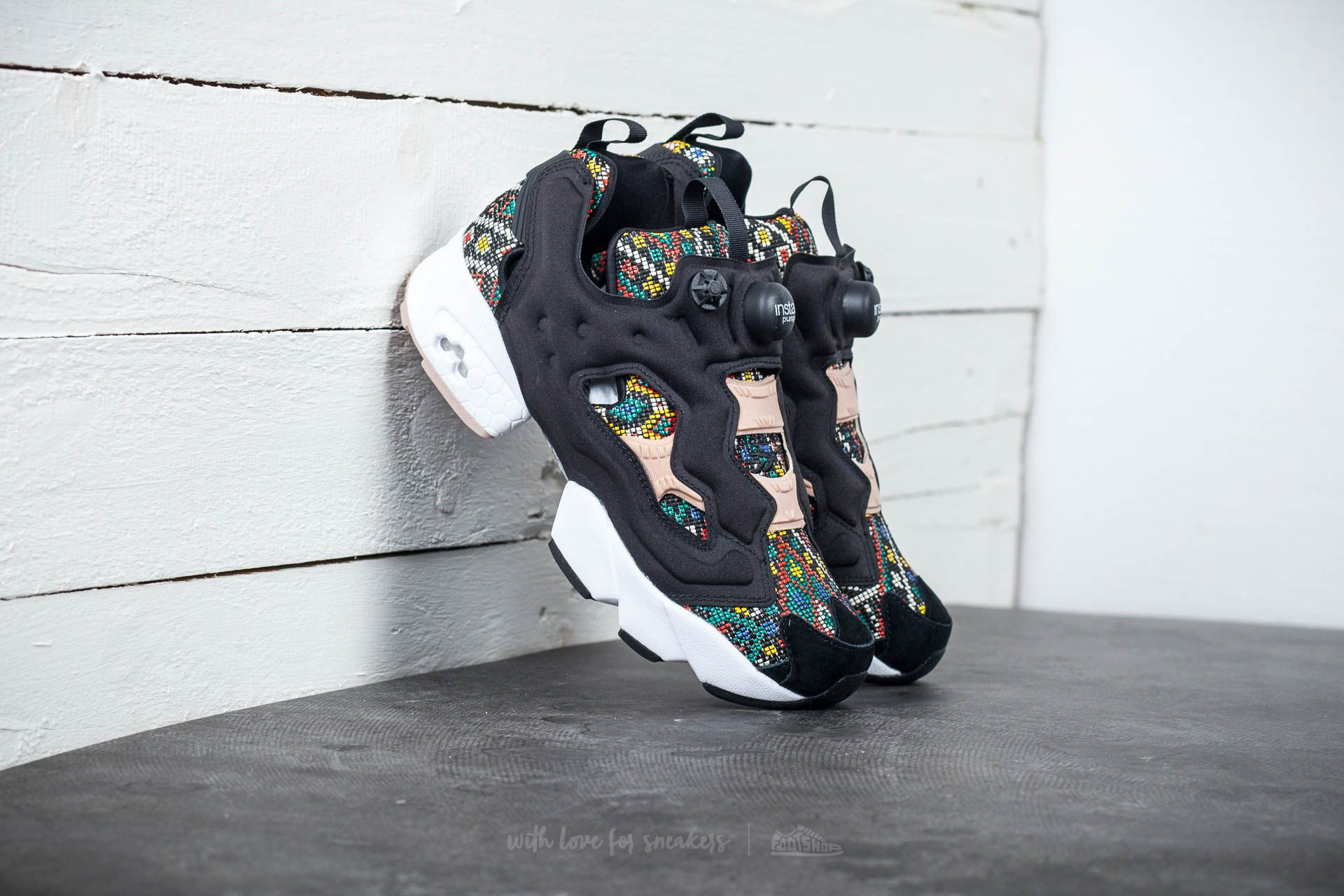 56556103af25 Reebok Instapump Fury GT Black  White  Dusty Pink