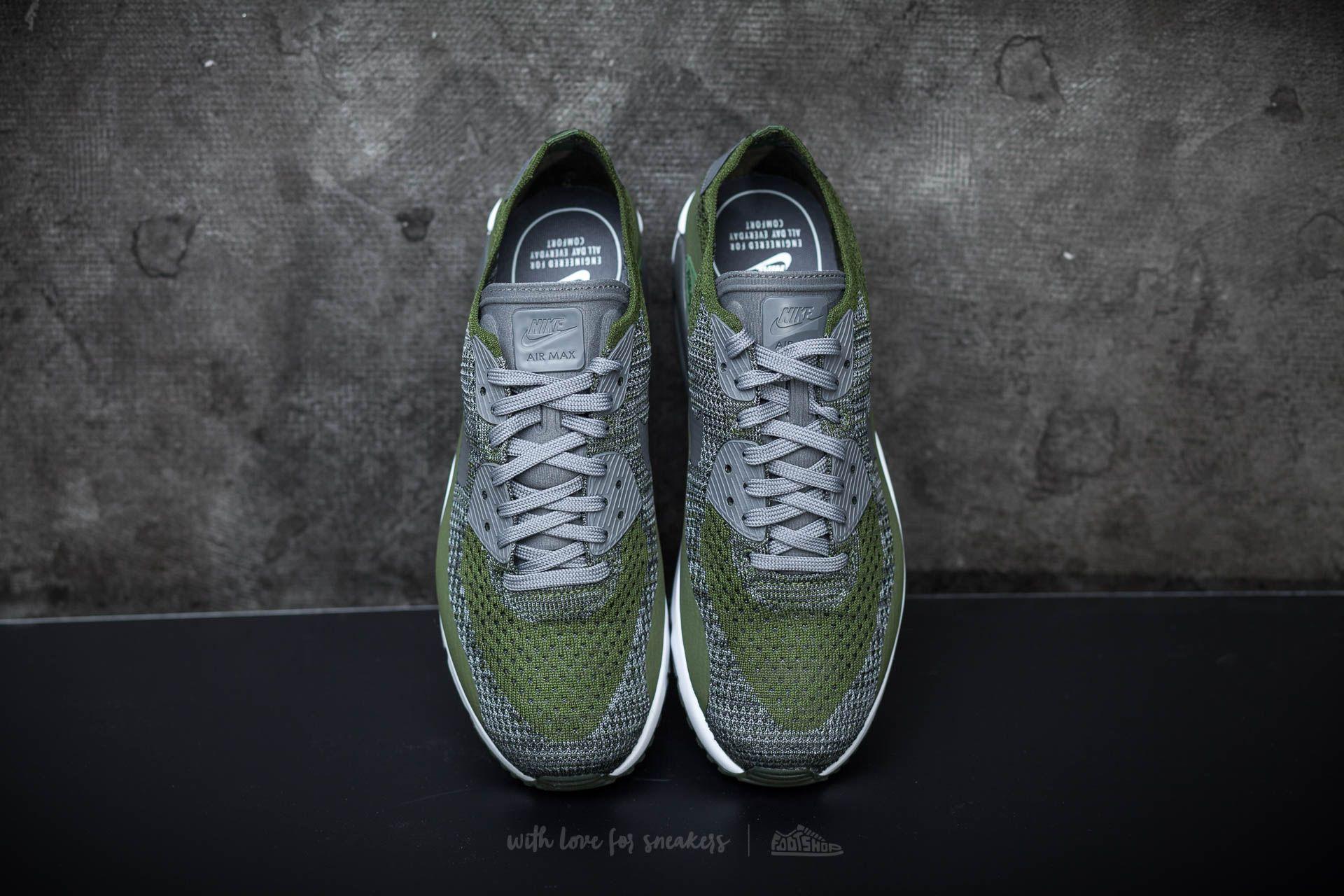 best sneakers 557e5 c9da6 Nike Air Max 90 Ultra 2.0 Flyknit Rough Green/ Dark Grey ...