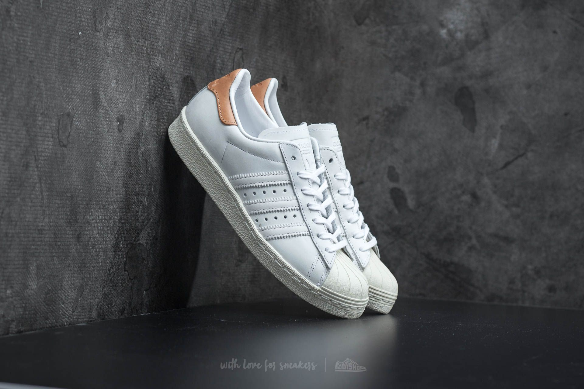 adidas superstar 80s w blanc et rose