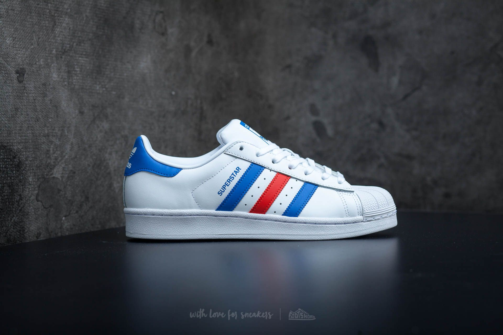 competitive price a7a7f df7c2 adidas Superstar Ftw White/ Blue/ Red | Footshop