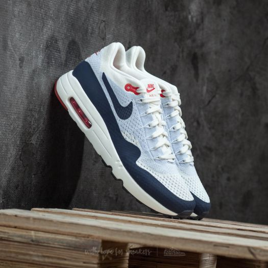 super popular 1957c b6dea Nike Air Max 1 Ultra 2.0 Flyknit Sail/ Obsidian-Wolf Grey ...