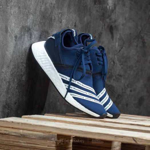 new product c289f 7373e adidas x White Mountaineering NMD R2 Primeknit Core Navy ...