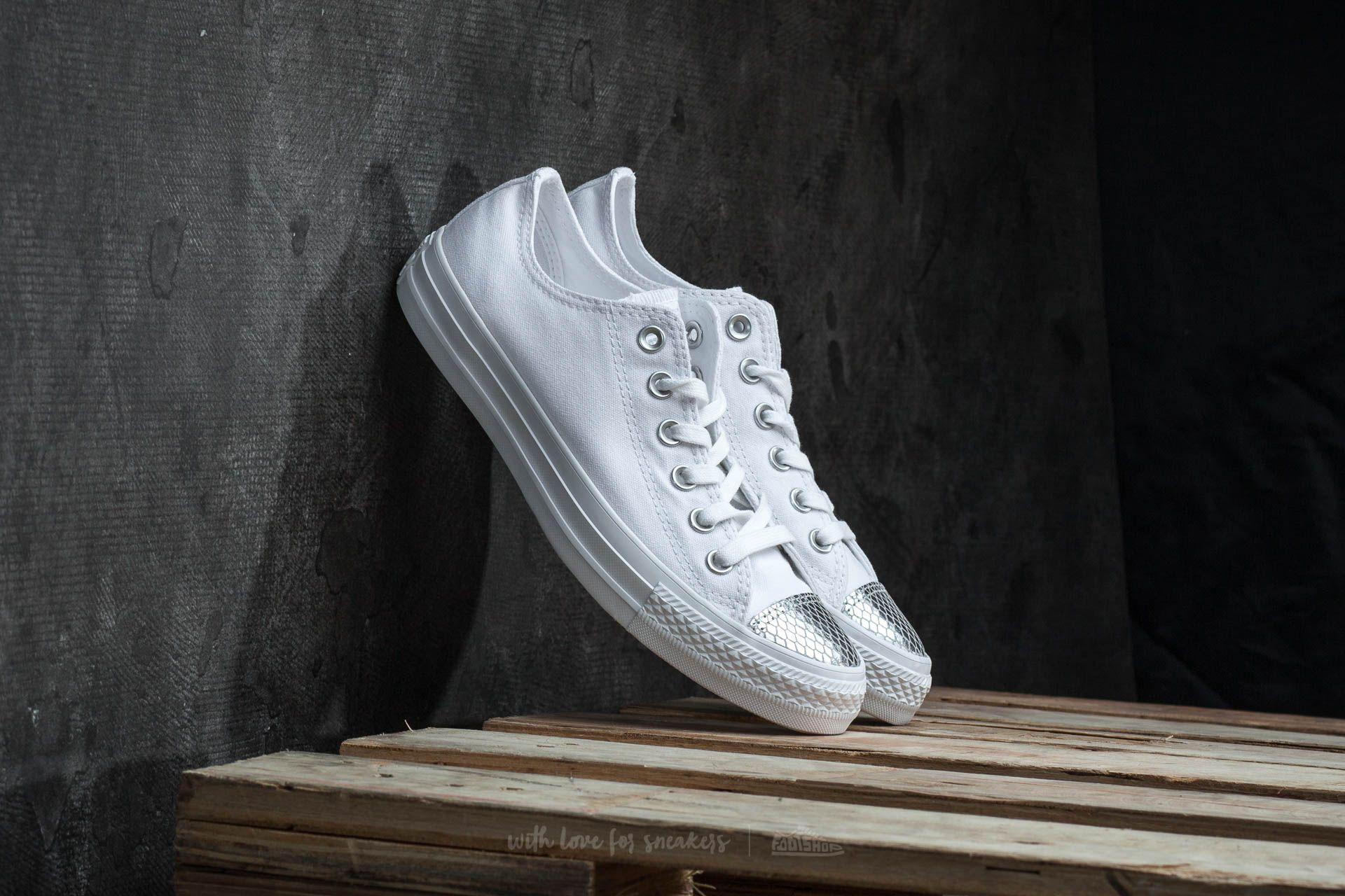72fa37ba9797 Converse Chuck Taylor All Star OX White  Silver  White