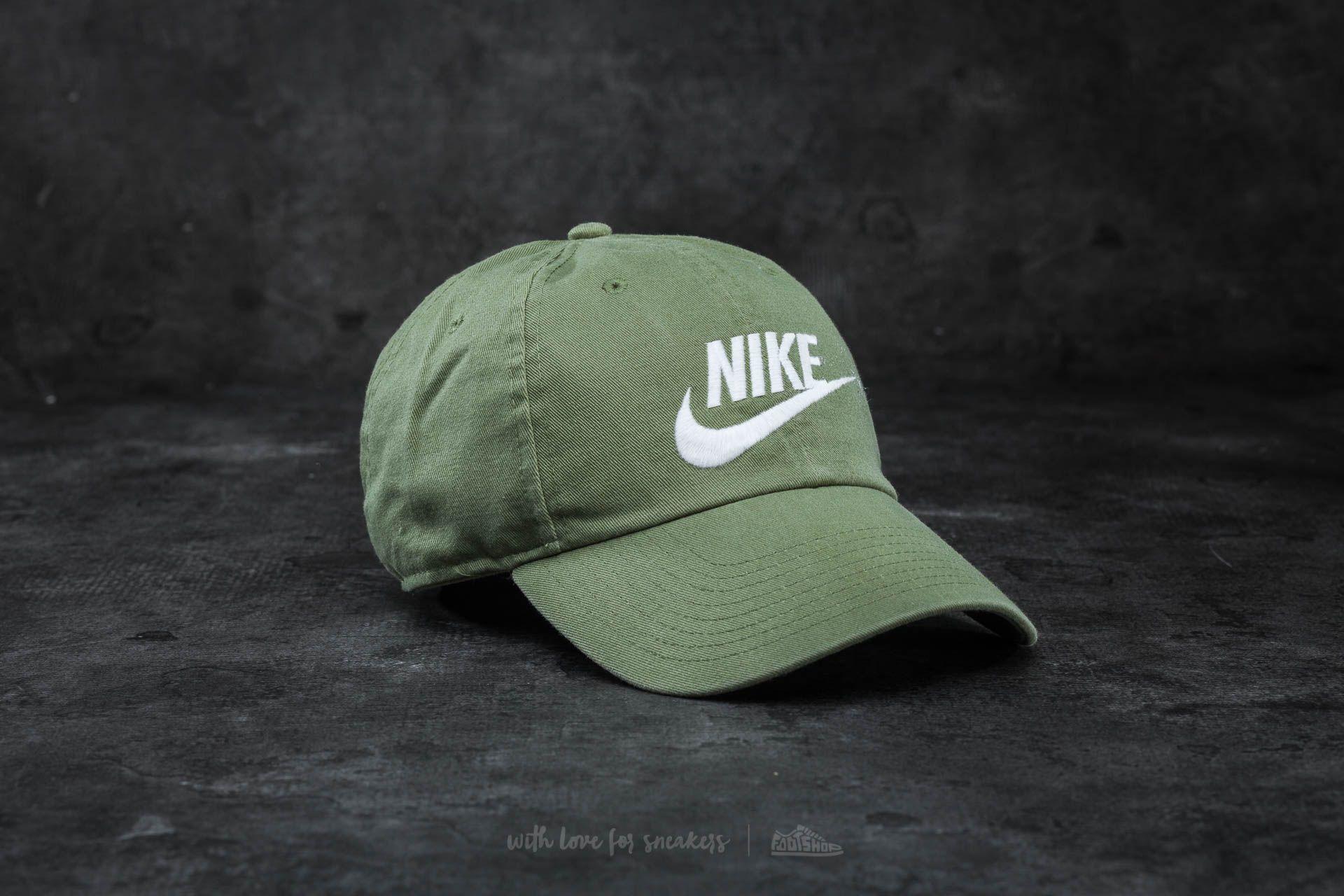 5ad98964063 Nike Futura Washed H86 Cap Olive  White