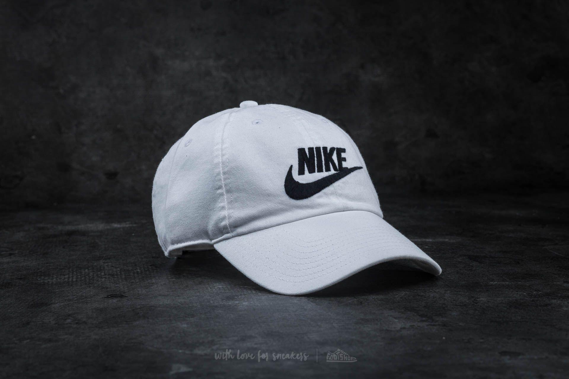 ab9e5671f97 Nike Futura Washed H86 Cap White  Black