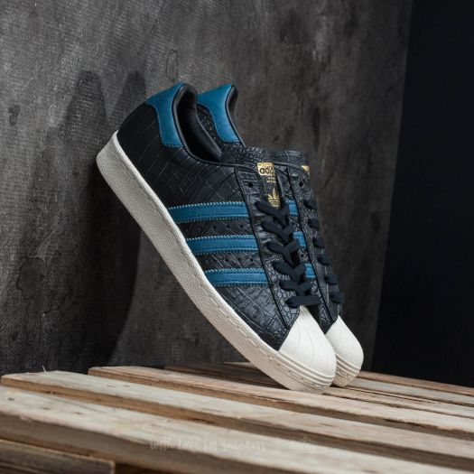 adidas superstar blue and gold