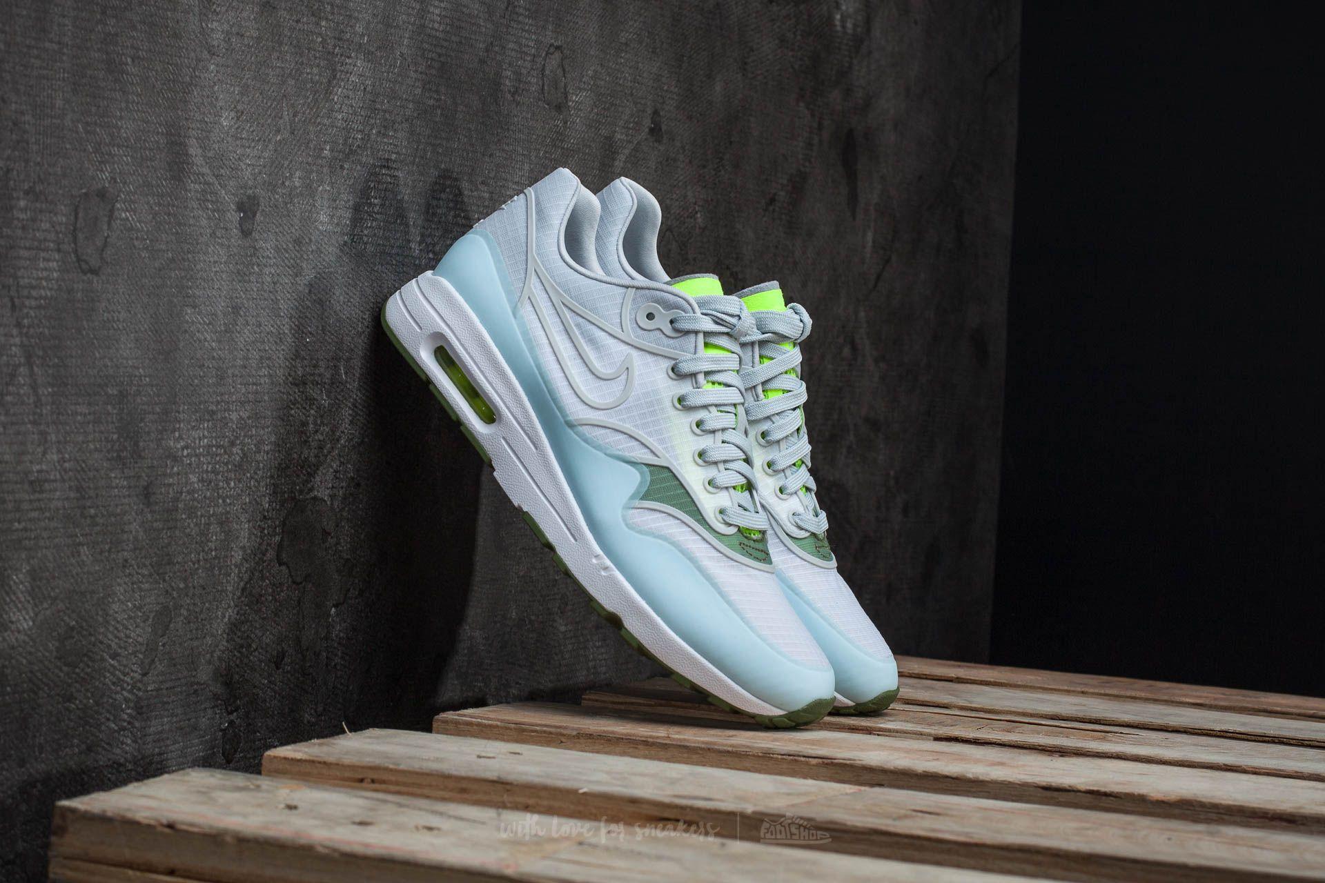 8de2f2aac271 Nike W Air Max 1 Ultra 2.0 SI White  Pure Platinum-Volt