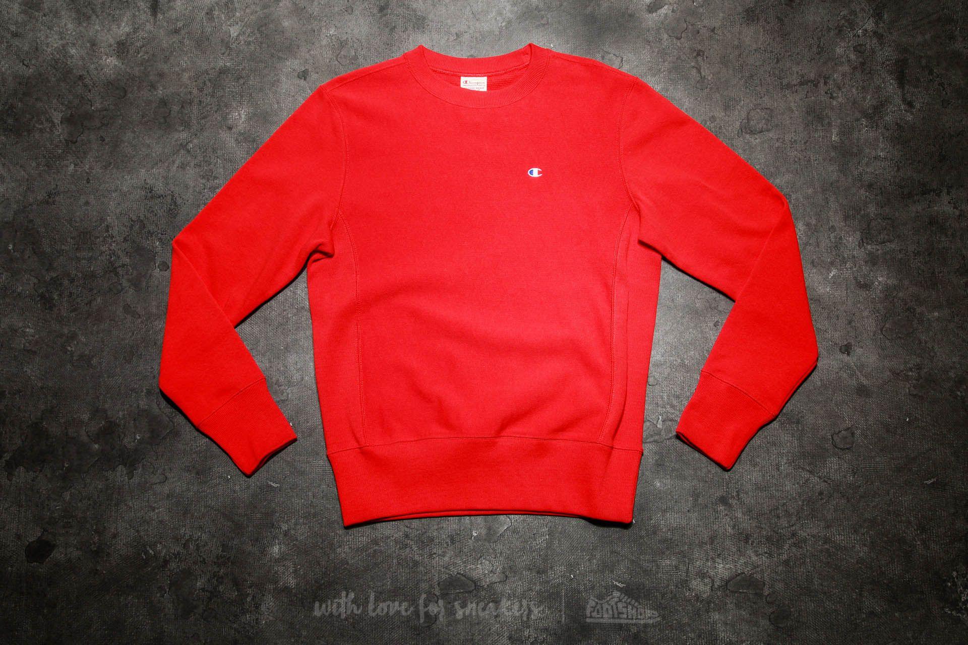 b6f32a97de06 Champion Reverse Weave Crewneck Sweatshirt Red