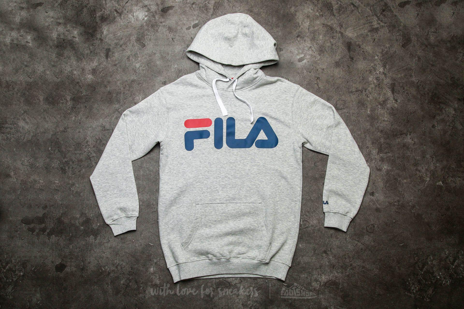 FILA Classic Logo Hoody Light Grey Melange | Footshop