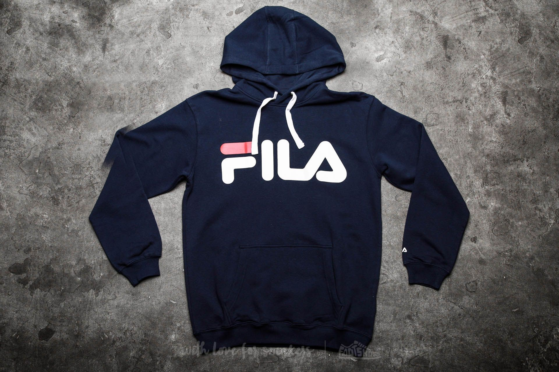 FILA Classic Logo Hoody Black Iris | Footshop