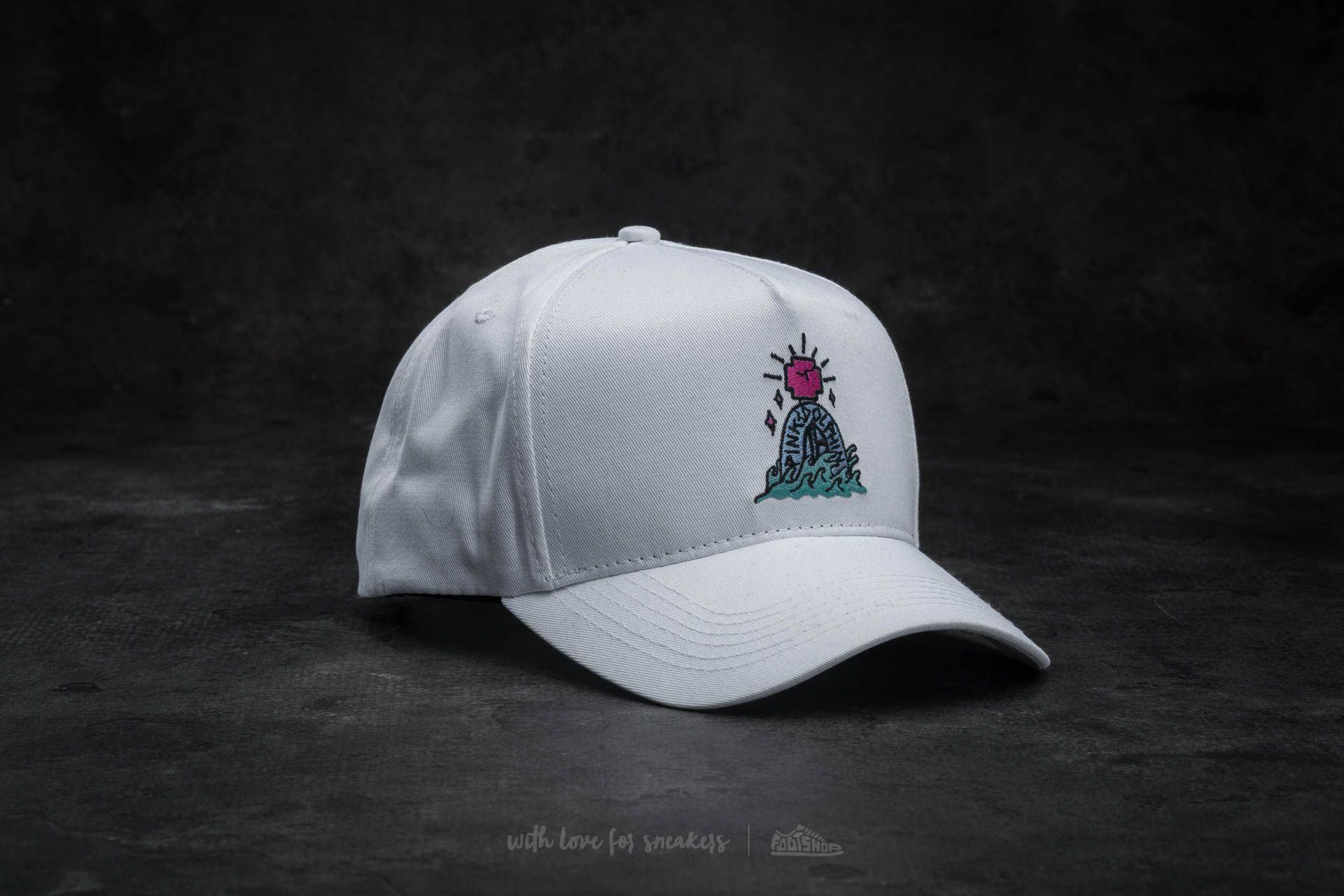 Pink Dolphin Tombstone 5 Panel Snapback White  618543bea0