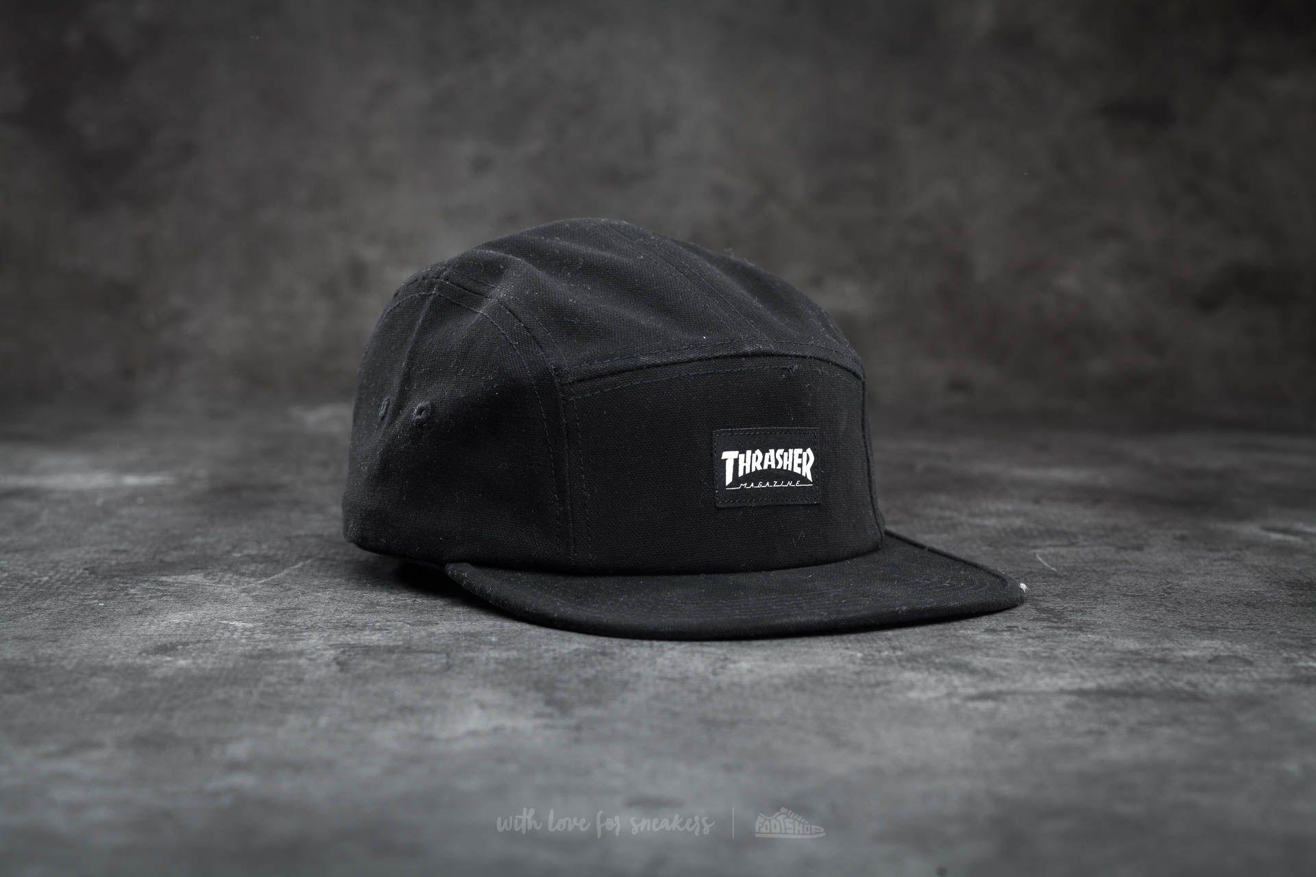 Thrasher 5 Panel Hat Black  881f197688c